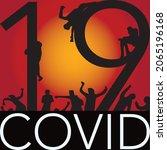 graphic illustration of covid19 ...   Shutterstock .eps vector #2065196168