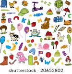 kids icons  set 2  | Shutterstock .eps vector #20652802