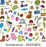 kids icons  set 2  | Shutterstock .eps vector #20652802
