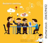business meeting   people... | Shutterstock .eps vector #206529652