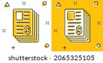 financial statement icon in... | Shutterstock .eps vector #2065325105