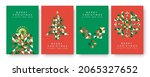 merry christmas happy new year... | Shutterstock .eps vector #2065327652