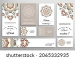 big set of greeting cards or... | Shutterstock .eps vector #2065332935