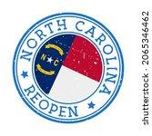 north carolina reopening stamp. ... | Shutterstock .eps vector #2065346462