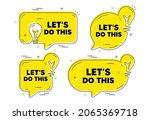 let's do this motivation quote. ... | Shutterstock .eps vector #2065369718