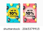up to 10 percent discount.... | Shutterstock .eps vector #2065379915