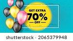 get extra 70 percent off sale.... | Shutterstock .eps vector #2065379948