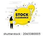 stock clearance sale text. idea ... | Shutterstock .eps vector #2065380005
