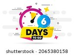 six days left icon. offer... | Shutterstock .eps vector #2065380158