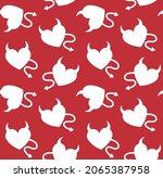 vector seamless pattern of flat ... | Shutterstock .eps vector #2065387958
