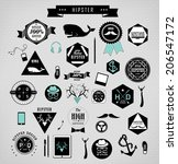 hipster style elements  icons... | Shutterstock . vector #206547172