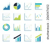 set statistics icon.  | Shutterstock .eps vector #206547652