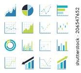 set statistics icon.  | Shutterstock .eps vector #206547652