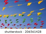 bunting  colorful party flags ... | Shutterstock . vector #206561428
