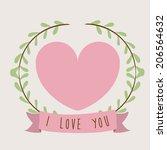 love design over beige... | Shutterstock .eps vector #206564632