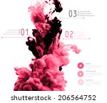vector abstract cloud. ink... | Shutterstock .eps vector #206564752