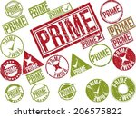collection of 22 red grunge... | Shutterstock .eps vector #206575822