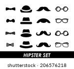 hipster design over white... | Shutterstock .eps vector #206576218