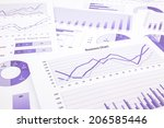 purple graphs  charts  data and ... | Shutterstock . vector #206585446