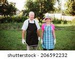 senior gardener.   Shutterstock . vector #206592232
