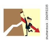 businessman painting growing... | Shutterstock .eps vector #206592235