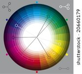 color wheel for select colors | Shutterstock .eps vector #20660179