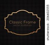 golden classic vintage frame ... | Shutterstock .eps vector #206602555