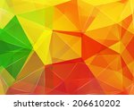 triangle background. pattern of ... | Shutterstock .eps vector #206610202