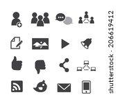 social network icons   Shutterstock .eps vector #206619412