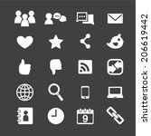 social media icons | Shutterstock .eps vector #206619442