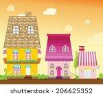 illustration of  cityscape city ... | Shutterstock .eps vector #206625352