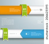 infographic 2 lines with circle ... | Shutterstock .eps vector #206625595