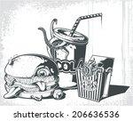 hell's breakfast   Shutterstock .eps vector #206636536