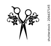 beauty salon logo | Shutterstock .eps vector #206637145