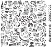 hipsters doodles   Shutterstock .eps vector  206637202. set of isolated  vertical. ddce54d778
