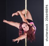 pole dancing is popular as form of exercise Pure Dance Studio in Newcastle Australia - stock photo