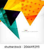modern 3d glossy overlapping... | Shutterstock . vector #206649295