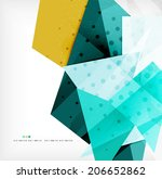abstract sharp angles... | Shutterstock . vector #206652862
