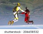 skydiving photo. | Shutterstock . vector #206658532