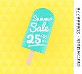 summer sale 25  off. vector... | Shutterstock .eps vector #206666776