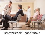 doctors and patients in... | Shutterstock . vector #206670526