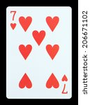 Playing Cards   Seven Of Hearts