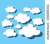 cloud and sky | Shutterstock .eps vector #206685262