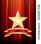 vector golden star with... | Shutterstock .eps vector #206687368