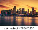 City Of Miami At Sunset ...