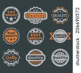 high quality guarantee stickers ... | Shutterstock .eps vector #206690572