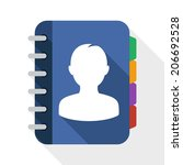 address book flat icon with... | Shutterstock .eps vector #206692528