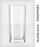 tall water glass. transparent... | Shutterstock .eps vector #206694682