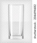 tall water glass. transparent...   Shutterstock .eps vector #206694682