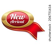 Oval Red New Arrival Badge Wit...